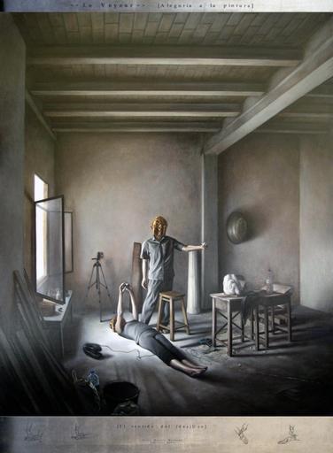 Jesus HERRERA MARTÍNEZ - Painting - Le Voyeur. Alegoría de la pintura