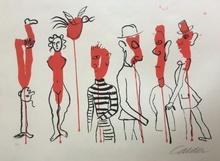 亚历山大•卡尔德 - 版画 - Criminel au milieu