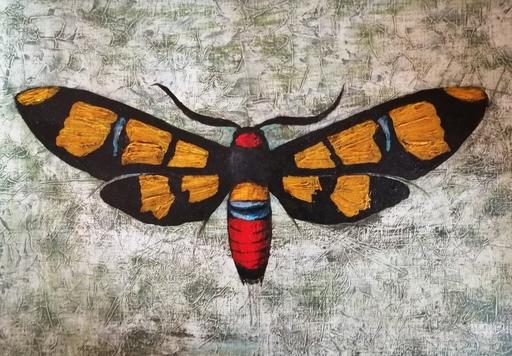 Marcel Charles DESBAN - Dibujo Acuarela - Papillon
