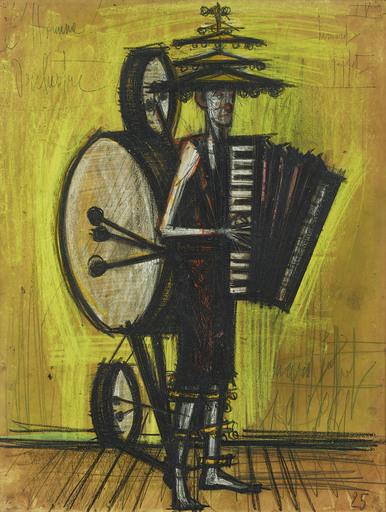 Bernard BUFFET - Drawing-Watercolor - L'Homme Orchestre