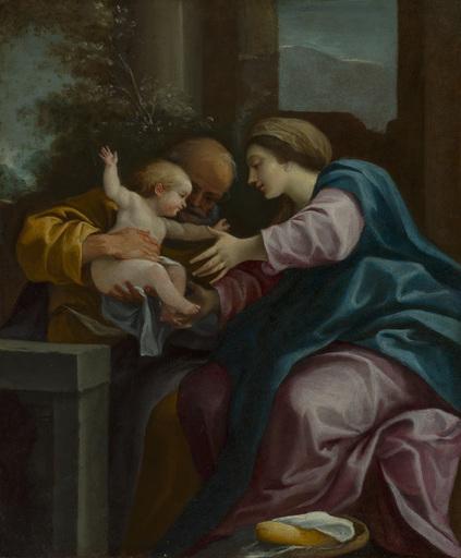 Lorenzo GARBIERI IL NEPOTE - Painting - Holy family