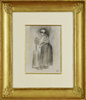 Camille PISSARRO - Drawing-Watercolor - Paysanne Barattant