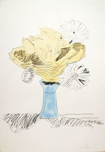 Andy WARHOL - Stampa Multiplo - Hand colored flower (FS. 113)