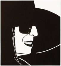 Alex KATZ - Estampe-Multiple - Black Hat (Ada)