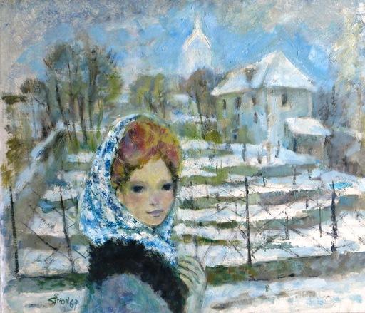 Boris SIMON - Painting - *Paysage de Montmonte L' Hiver