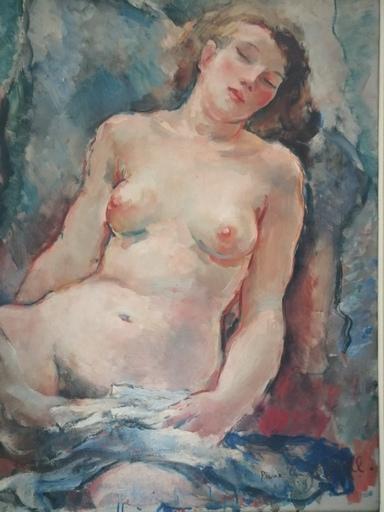 Pierre Ernest KOHL - Peinture - Nu féminin