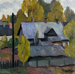 Valeriy NESTEROV - Pintura - Rzhevka district. Leningrad
