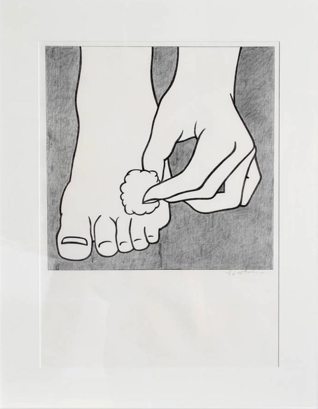 Roy LICHTENSTEIN - Estampe-Multiple - Foot Medication (C.App.3)