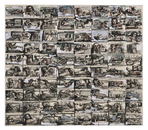 Lionel VINCHE - Gemälde - Les insectes en fuite
