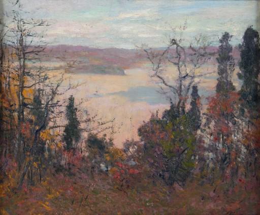 Robert William VONNOH - Painting - Paysage automnal dans le Connecticut- dated 1912.