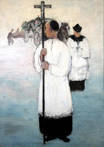 Peter HERKENRATH - Peinture - Begräbnis