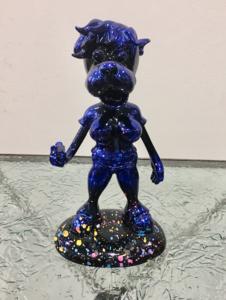 Michel SOUBEYRAND - Escultura - Dog girls bleu