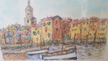 Roland CHANCO - Dibujo Acuarela - St Tropez