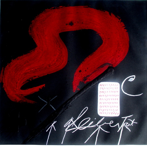 Antoni TAPIES - Estampe-Multiple - Cinta Roja