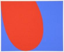 艾尔斯沃茲‧凱利 - 版画 - Red Blue