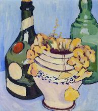 Alberto MAGNELLI - Peinture - Natura morta con bottiglie