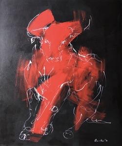 Nicole LEIDENFROST - Gemälde - Eleganz in rot