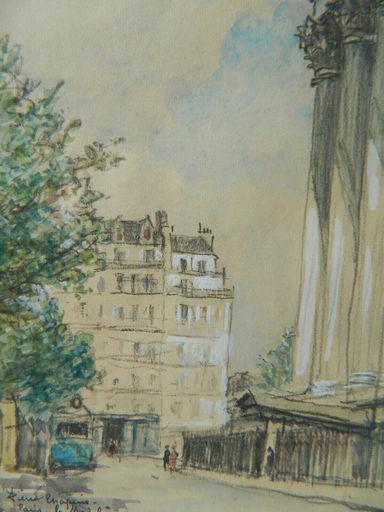 Pierre CHAPUIS - 水彩作品 - PARIS - PAYSAGE