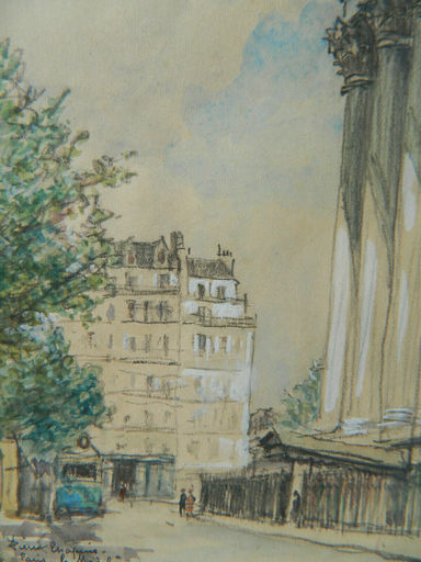 Pierre CHAPUIS - Dibujo Acuarela - PARIS - PAYSAGE