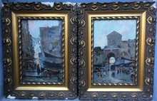 Oscar RICCIARDI - Pintura - Escenas de mercados