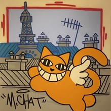 MONSIEUR CHAT - Pintura - Flying Cat