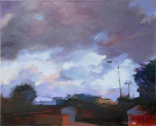 Ewa MAZUR-DEVAUX - Peinture - Quiberon, la gare 2