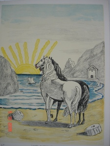 Giorgio DE CHIRICO - Stampa Multiplo - Cavalli mediterranei