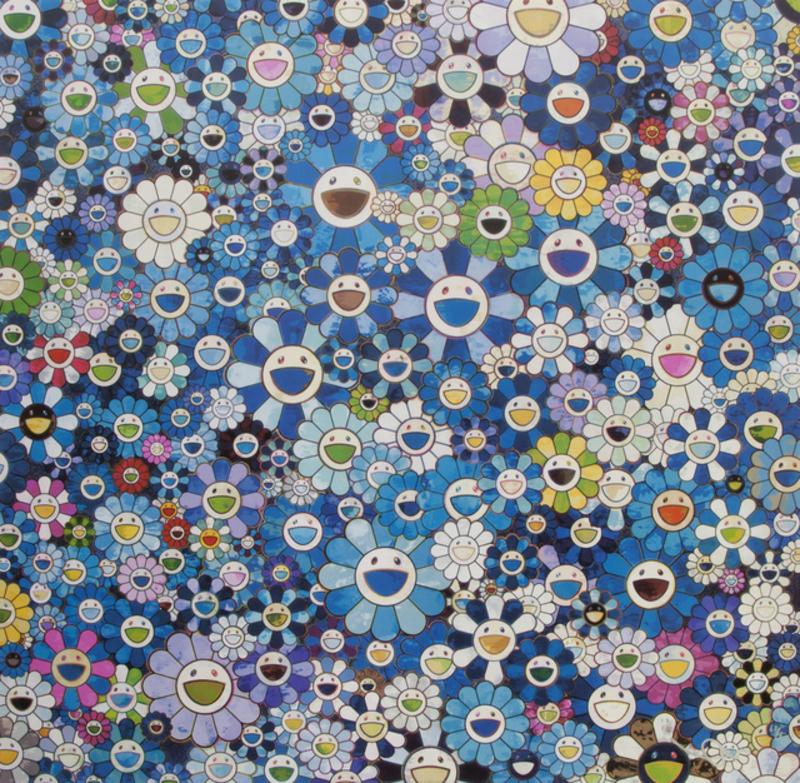 Takashi MURAKAMI - Grabado - Shangri-La Blue