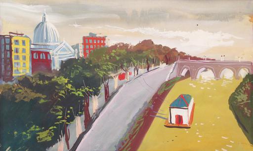Nicola SIMBARI - Gemälde - Ponte Cavour, Roma