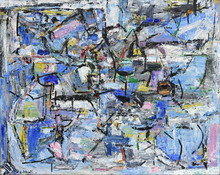 Alexandre ISTRATI - Painting - Composition Blue