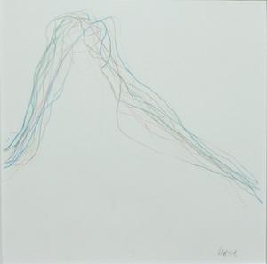 Véra MOLNAR - Drawing-Watercolor - 4 couleurs d'un seul trait