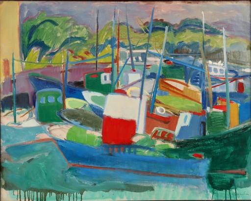 """Gisèle FERRANDIER - Pintura - """"LE PORT/PAYSAGE"""""""