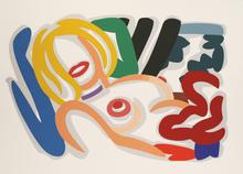 汤姆•韦瑟尔曼 - 版画 - Big Blonde with Choker