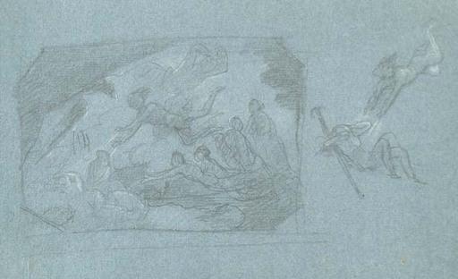 Cherubino CORNIENTI - Drawing-Watercolor - STUDIES FOR PROMETHEUS REGENERATING THE HUMAN BEINGS
