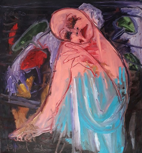 Bernard MOREL - Peinture - PENSEE MELANCOLIQUE