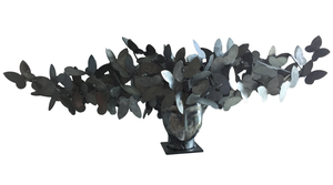 Manolo VALDÉS - Skulptur Volumen - Cabeza con Mariposas Plateadas