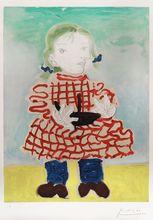 Pablo PICASSO - Estampe-Multiple - Portrait d'une Fille (Maya)
