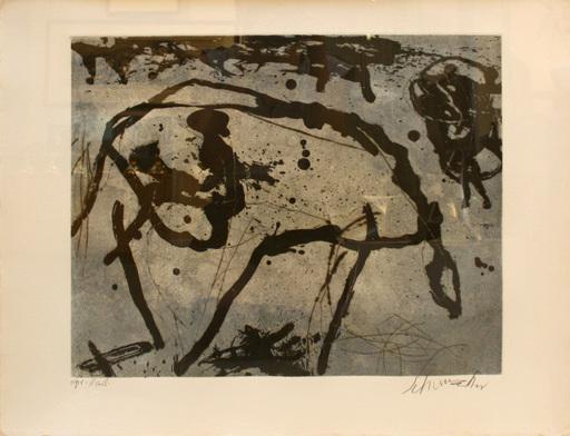 Emil SCHUMACHER - Estampe-Multiple - 7/1991
