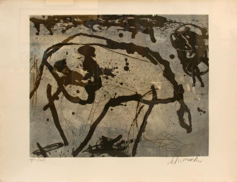Emil SCHUMACHER - Stampa-Multiplo - 7/1991