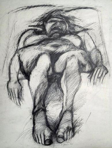 Adolf FROHNER - Drawing-Watercolor - Das Donauweibchen - die tote Schwimmerin