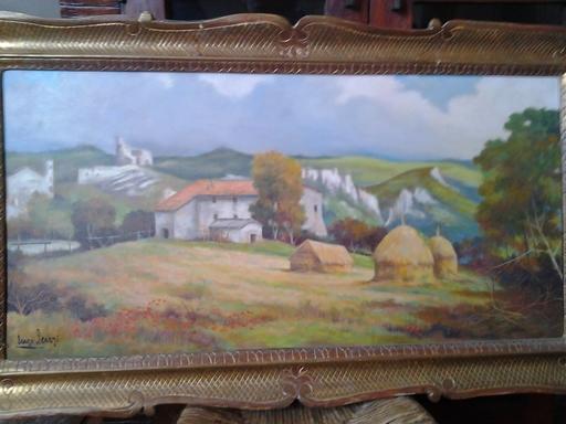 Enzo LENZI - Painting - Paesaggio toscano con govoni