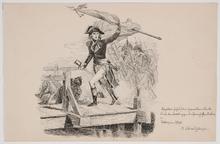 "Josef SCHMITZBERGER - Dibujo Acuarela - ""Napoleon"", Ink Drawing"