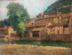 Julia MINGUILLON IGLESIAS - Pintura - LAVANDERA EN EL RIO