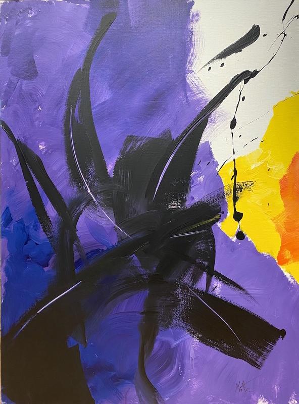 Jean MIOTTE - Peinture - Dans les bois