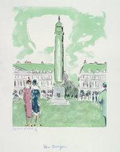 Kees VAN DONGEN - Stampa Multiplo - Place Vendôme