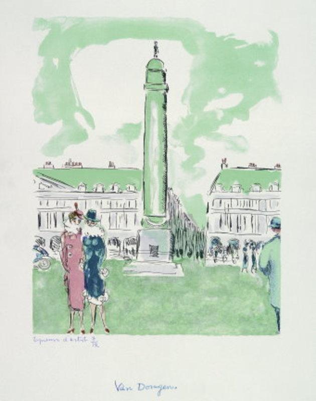 Kees VAN DONGEN - Stampa-Multiplo - Place Vendôme