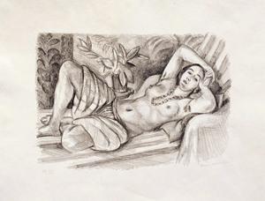 Henri MATISSE, Odalisque au magnolia