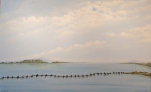 Rafael DE TOURS - Peinture - Etang de Bages Sigean