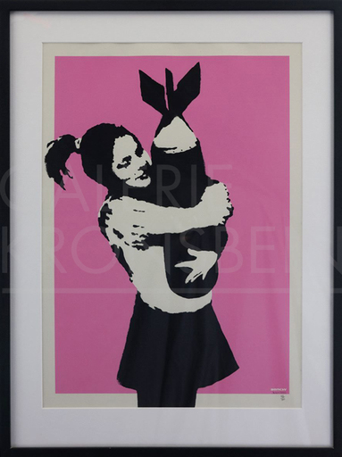 BANKSY - Stampa Multiplo - Bomb Love signed