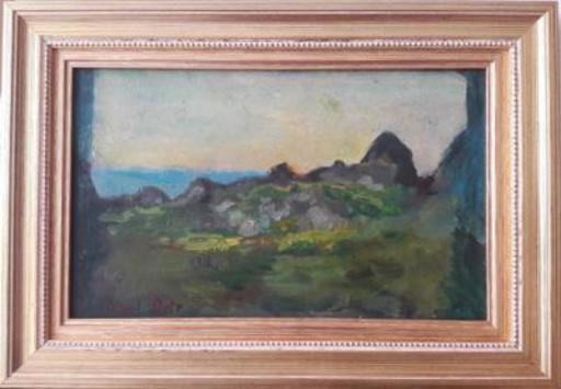 Raoul DUFY - Pittura - Paysage en bord de mer
